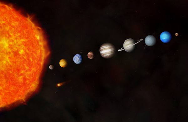 solar system model to scale - photo #23